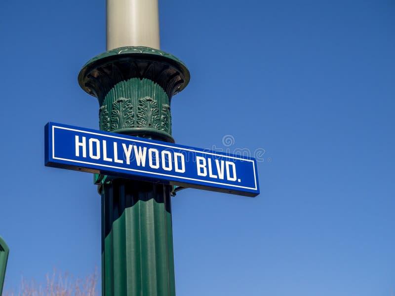 BULEVAR de Hollywood en los estudios de Hollywood en parque de la aventura de Disney California foto de archivo libre de regalías