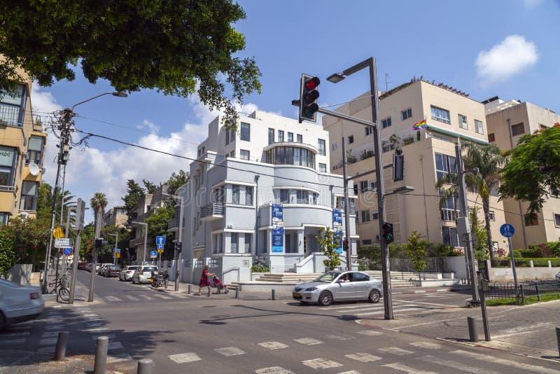 Bulevar de Rothschild em Tel Aviv, Israel imagens de stock