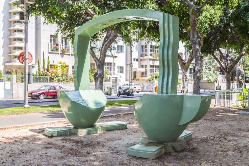 Bulevar de Rothschild em Tel Aviv, Israel fotos de stock royalty free