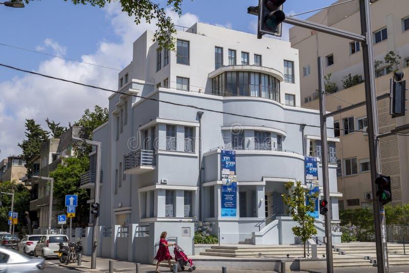 Bulevar de Rothschild em Tel Aviv, Israel fotografia de stock