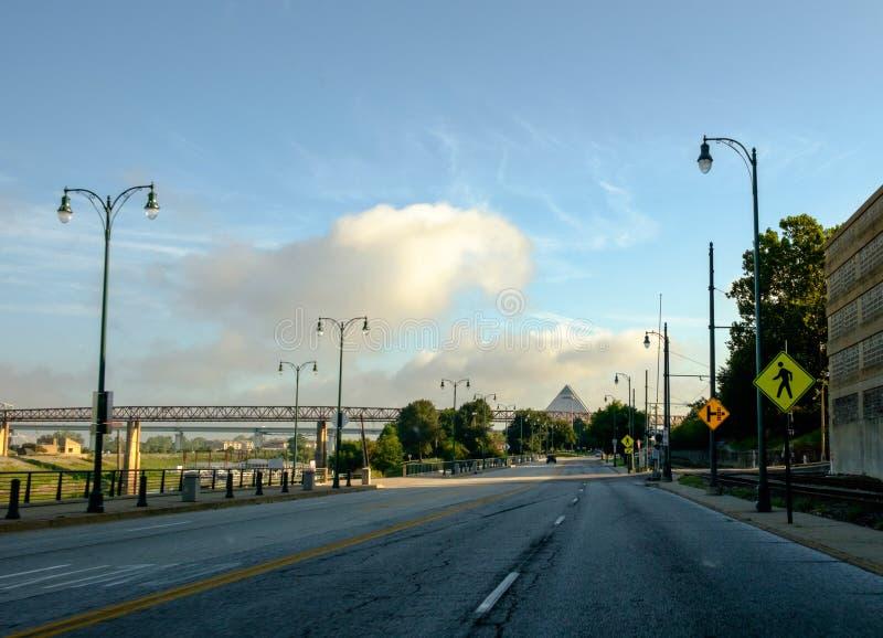 Bulevar do beira-rio no beira-rio em Memphis do centro, Tennessee fotos de stock royalty free