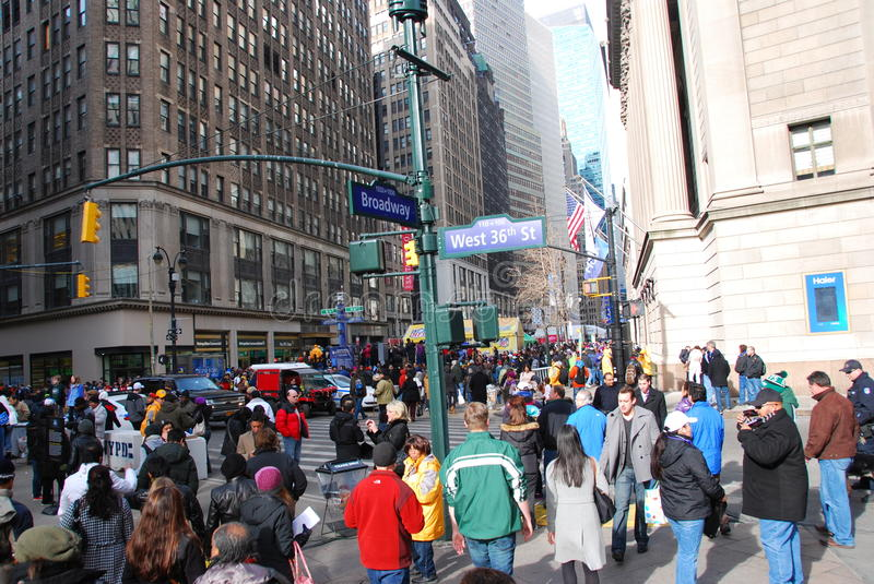 Bulevar do Super Bowl - New York City imagem de stock