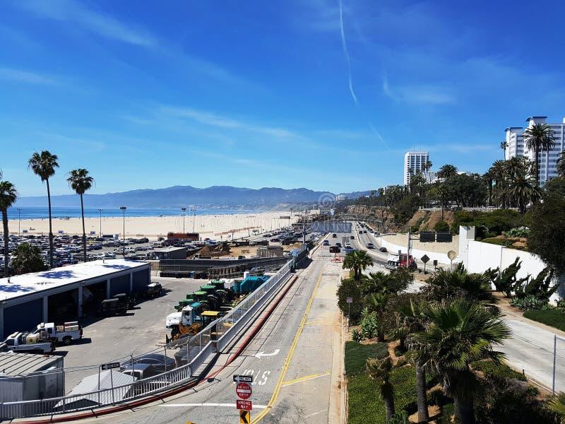 Bulevar en Santa Monica Beach en Los Ángeles imagen de archivo libre de regalías