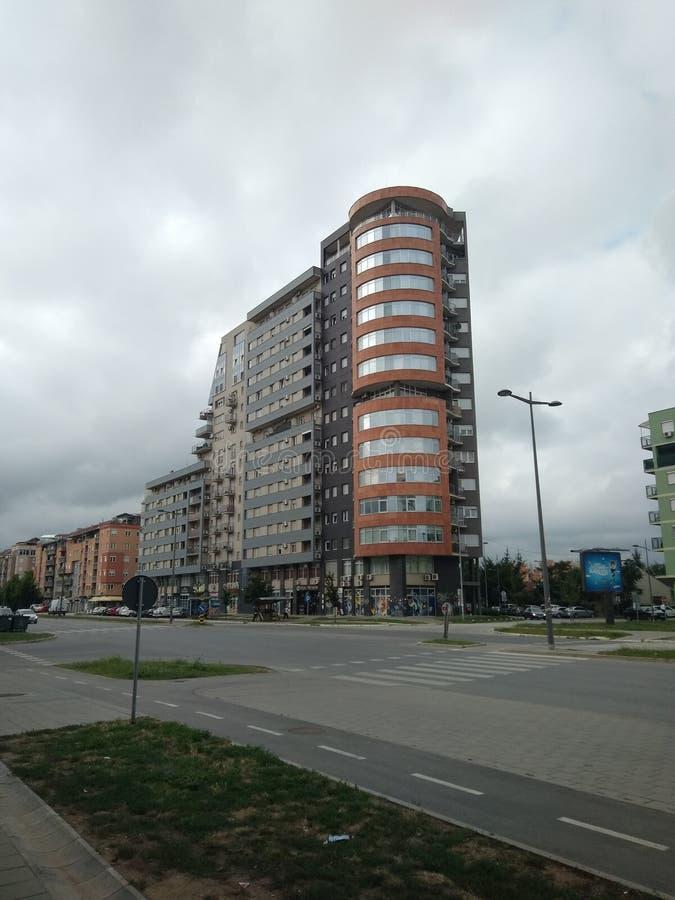 Bulevar Evropa看法在诺维萨德,Setbia 免版税库存图片