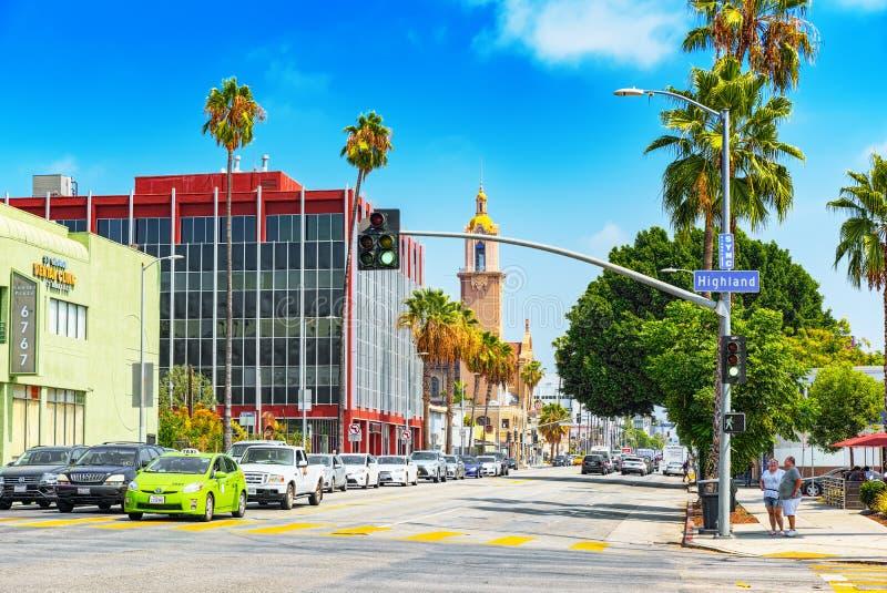 Bulevar famoso de Hollywood e a composi??o profissional da escola imagem de stock royalty free