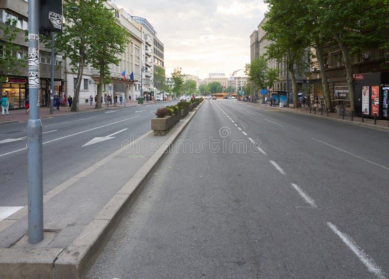 Bulevar Kralja Aleksandra大道在贝尔格莱德 免版税库存图片