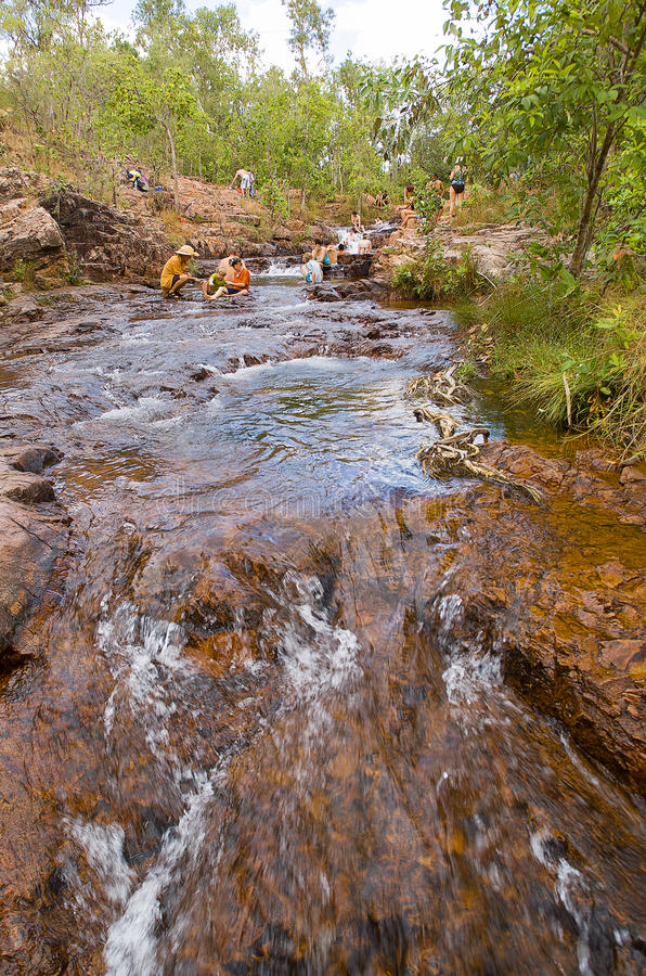 Buley Rockhole Litchfield国家公园 免版税库存图片