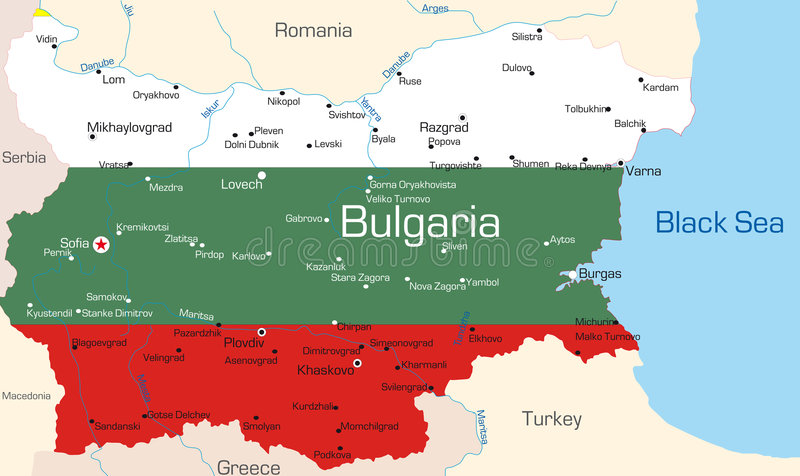 Bulgária ilustração stock
