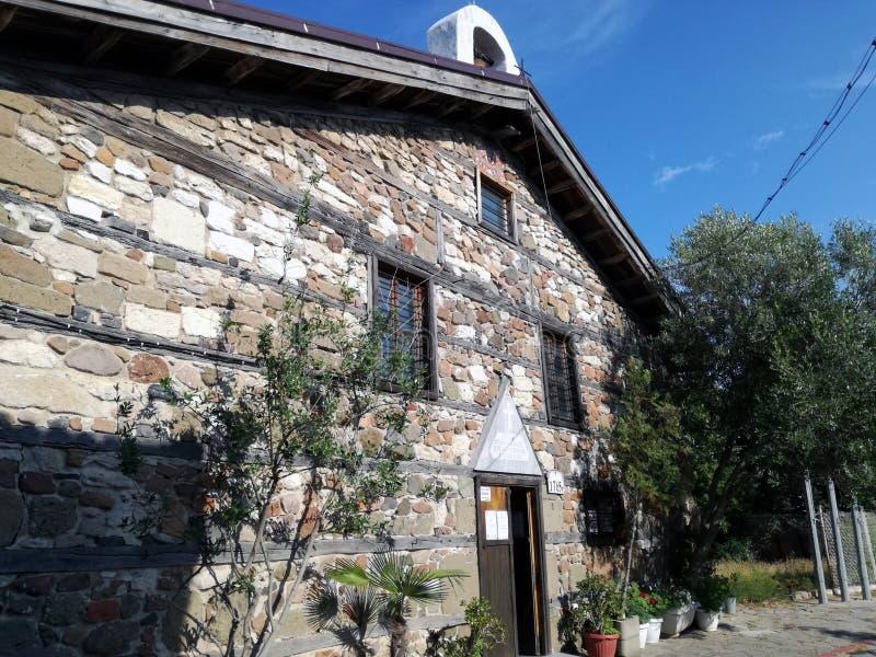 Bulgária a cidade de Pomorie Lugares históricos fotografia de stock royalty free
