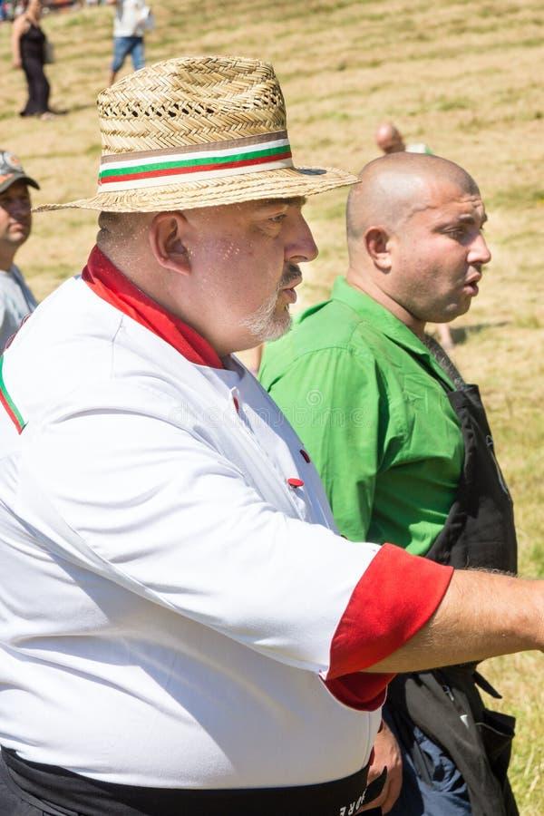 Bulgaars chef-koksfestival Rozhen stock foto