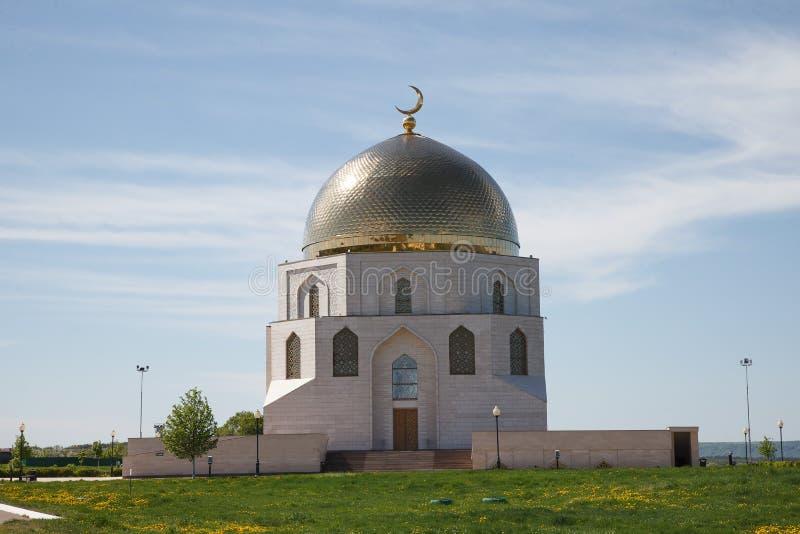 Bulgaars historisch en archeologisch monument dichtbij Kazan Grote Minaret complex van de oude ruïnes in de stad van Bolgar royalty-vrije stock afbeeldingen
