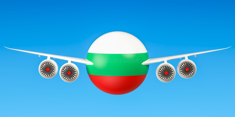 Bulgaarse luchtvaartlijnen vector illustratie
