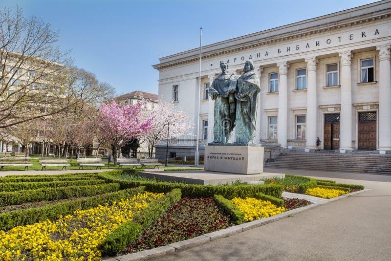 Bulgaarse Nationale Bibliotheek in Sofia stock fotografie