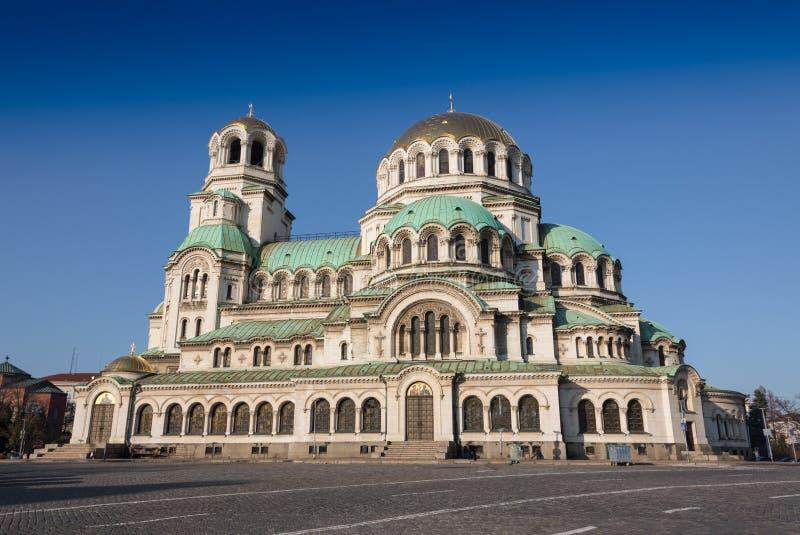 Bulgaarse Orthodoxe kathedraal gewijd aan Heilige Alexander Nevsky, in Sofia royalty-vrije stock foto