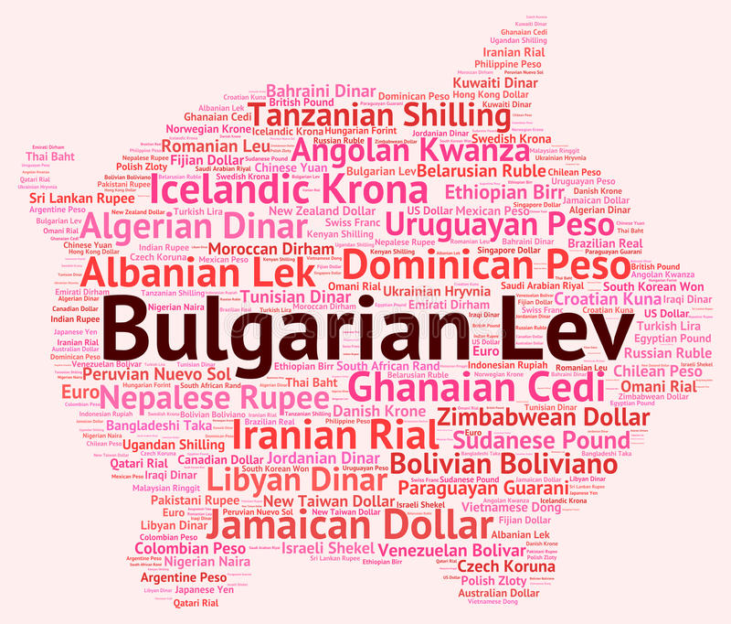 Bulgare Lev Indicates Worldwide Trading And Bgn illustration stock