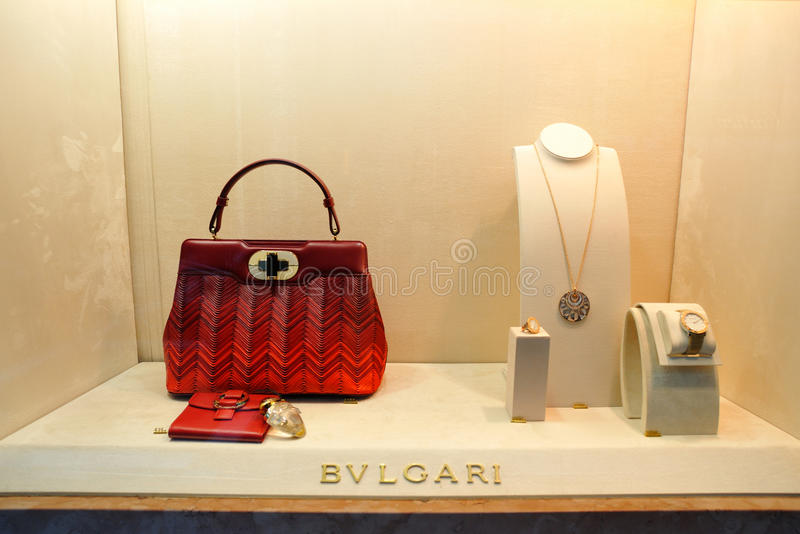 Bulgari luxury fashion store in Germany stock image