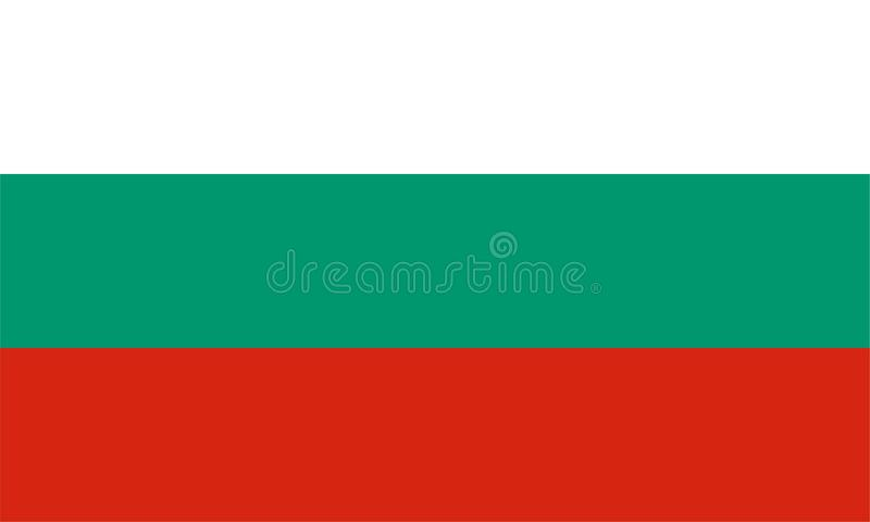 bulgari flagę ilustracja wektor