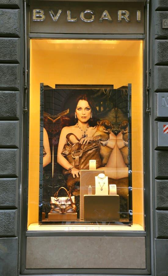 Bulgari Jewelry Fashion In Italy Editorial Stock Photo