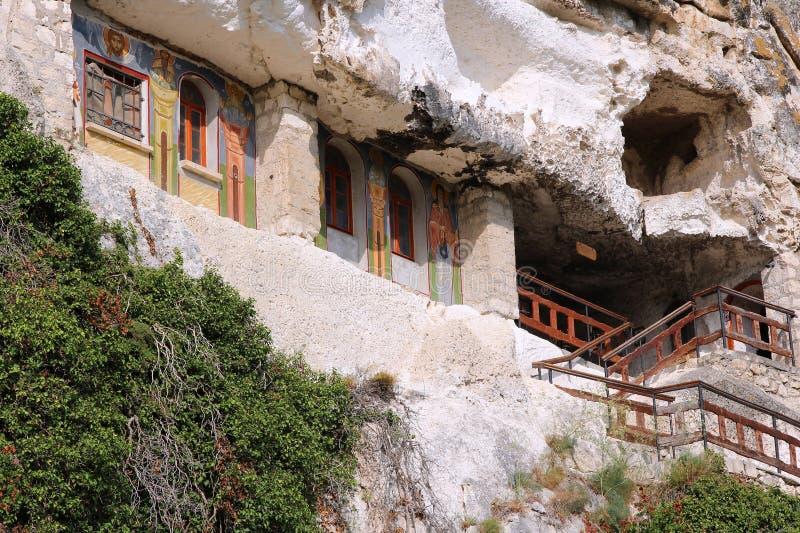 Bulgaria. Rock-hewn churches of Ivanovo. Famous UNESCO World Heritage Site royalty free stock photo