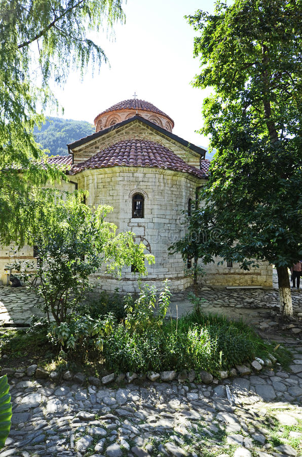 Bulgaria, Bachkovo. Monastery, landmark and pilgrimage site stock image