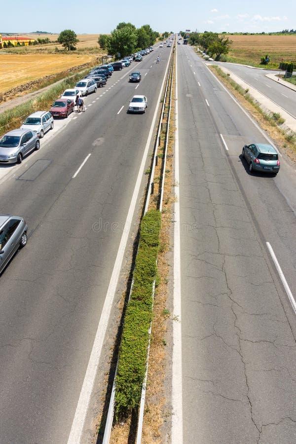 Bulgaria: Burgas-Sofia Highway royalty free stock photos