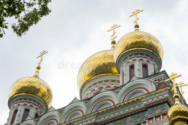 Bulgaria. Cathedral dome in the Shipka Monastery royalty free stock image