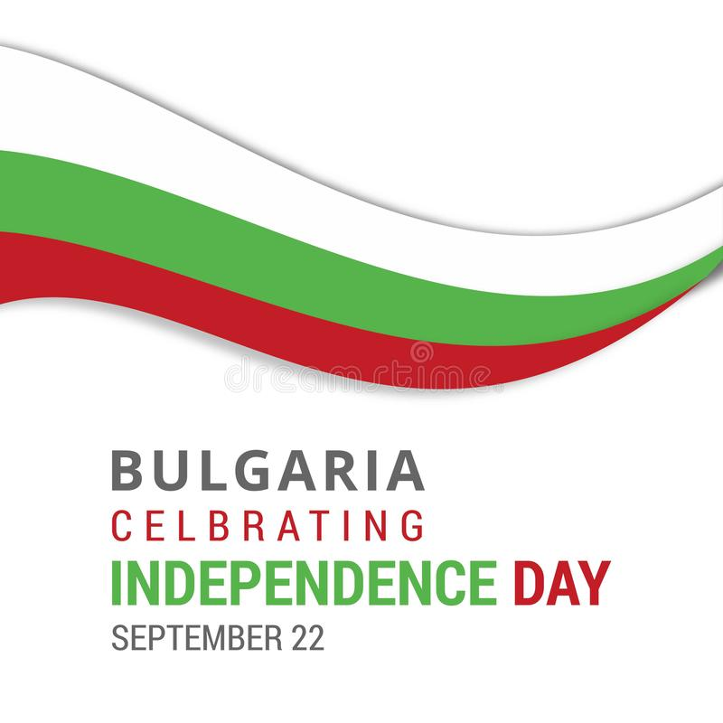 Bulgaria Celebrating Independence Day September 22nd. For web design and application interface, also useful for infographics. Vector illustration royalty free illustration