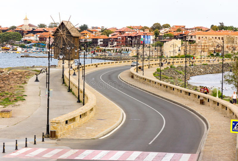 Bulgaria: Entrance to the old Nessebar stock image