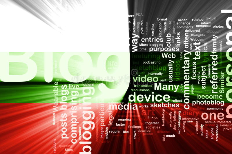 Bulgaria flag blog royalty free stock images