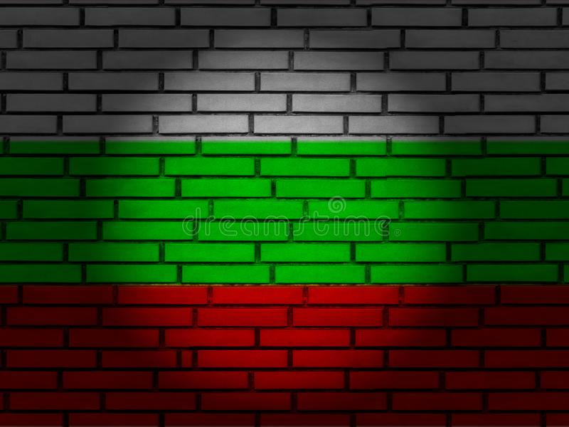 Bulgaria flag brick wall royalty free stock image