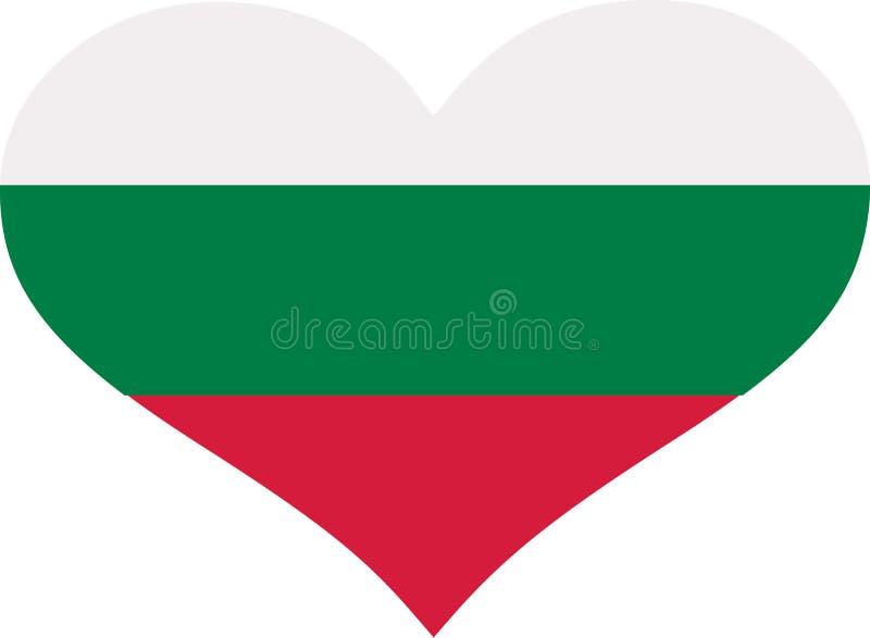 Bulgaria flag heart vector illustration