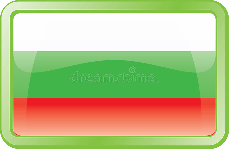 Download Bulgaria Flag Icon stock vector. Illustration of button - 2015742
