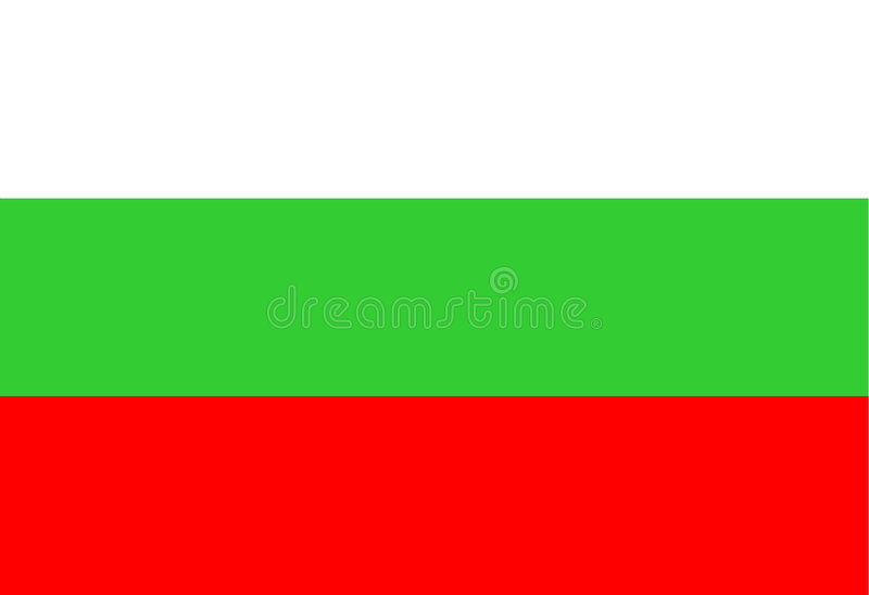 bulgaria flagganational royaltyfri illustrationer