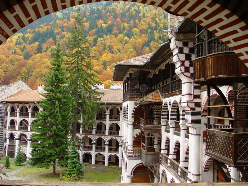 bulgaria klosterrila arkivfoton