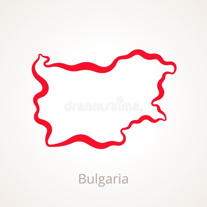 Bulgaria - mapa del esquema stock de ilustración