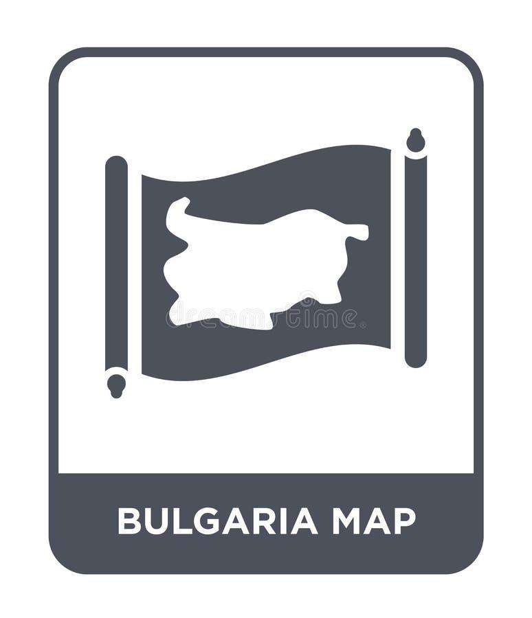 bulgaria mapy ikona w modnym projekta stylu bulgaria mapy ikona odizolowywająca na białym tle bulgaria mapy wektorowa ikona prost ilustracji