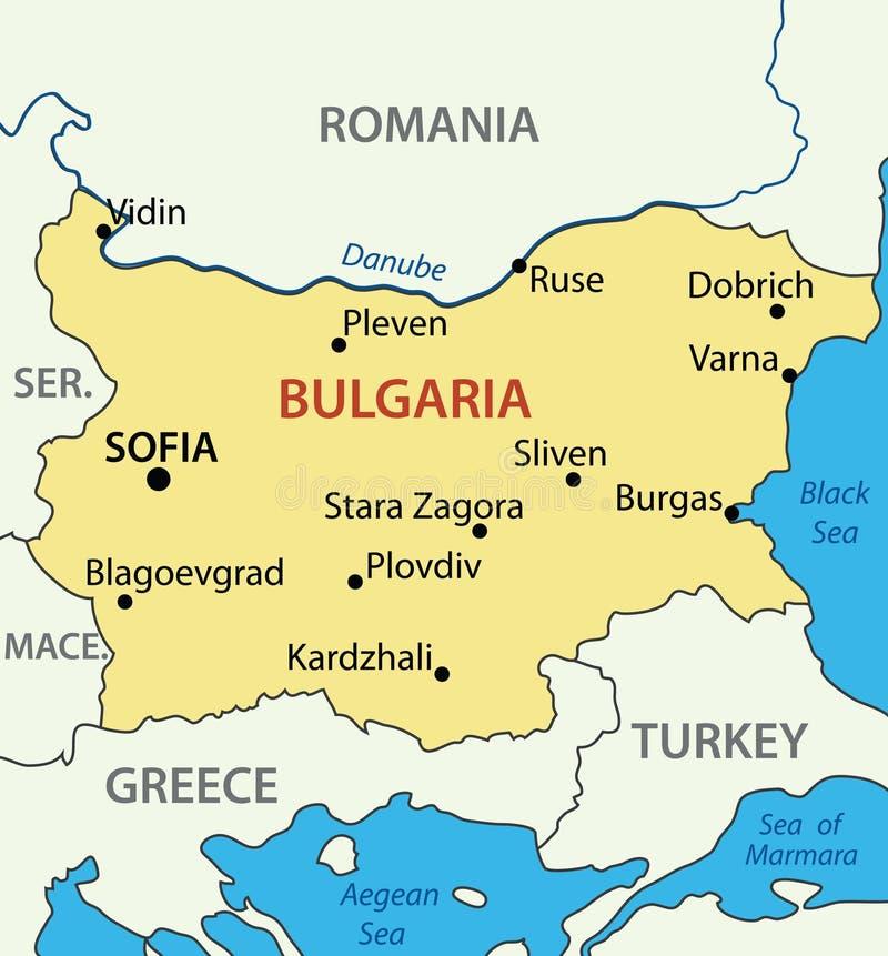 bulgaria mapy republiki wektor ilustracja wektor