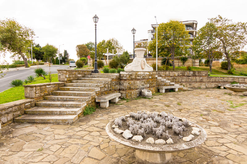 Bulgaria: The monument at the entrance to the old Nessebar stock images