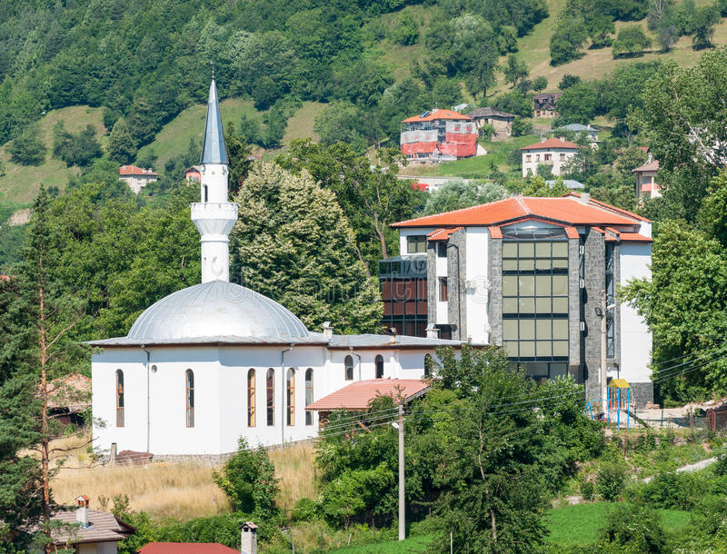 Bulgaria. The mosque in Smolyan stock images
