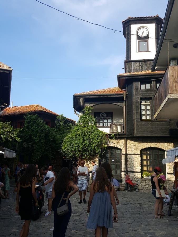 Bulgaria, Nesebar - the old houses. royalty free stock image