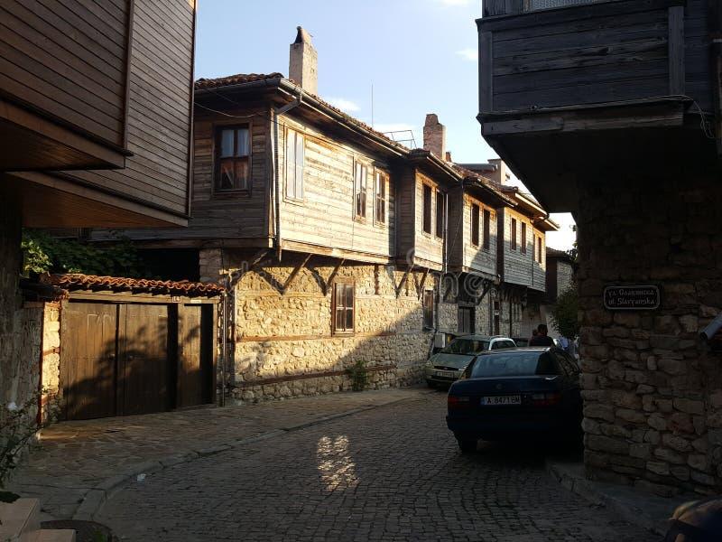 Bulgaria, Nesebar - old town. stock photography