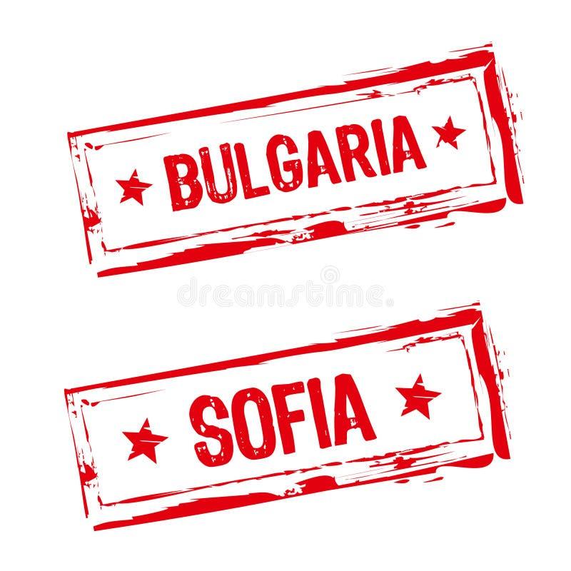 bulgaria pieczątka ilustracja wektor