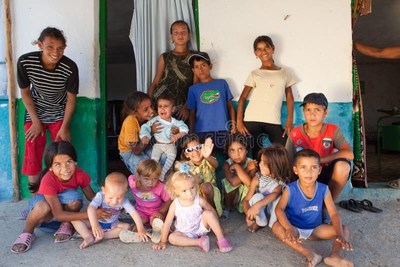 bulgaria rodziny gypsy obraz stock