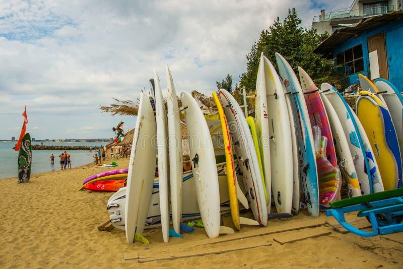 Bulgaria, Saint Vlas: View on bay of Sunny beach resort, Nessebar, Bulgaria royalty free stock image