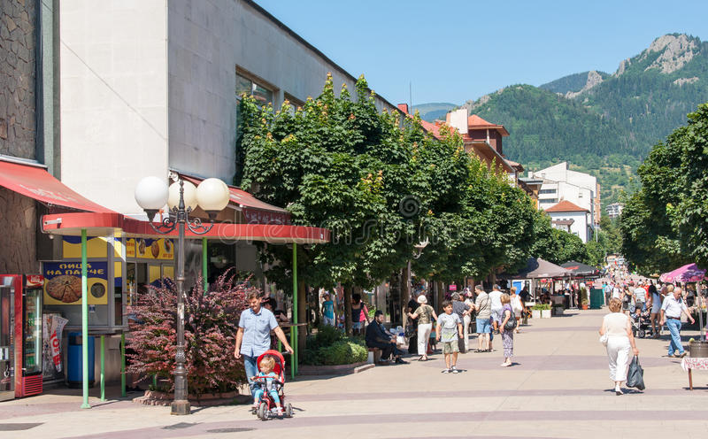 Bulgaria. The shopping district of Smolyan royalty free stock photos