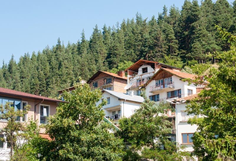 bulgaria Smolyan Arquitectura de la montaña imagen de archivo libre de regalías