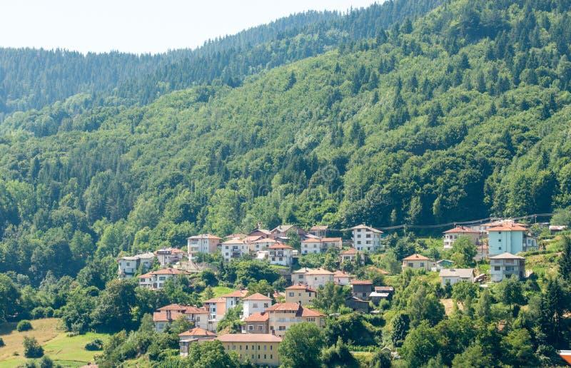 Bulgaria. Smolyan: house on the hillside stock photos