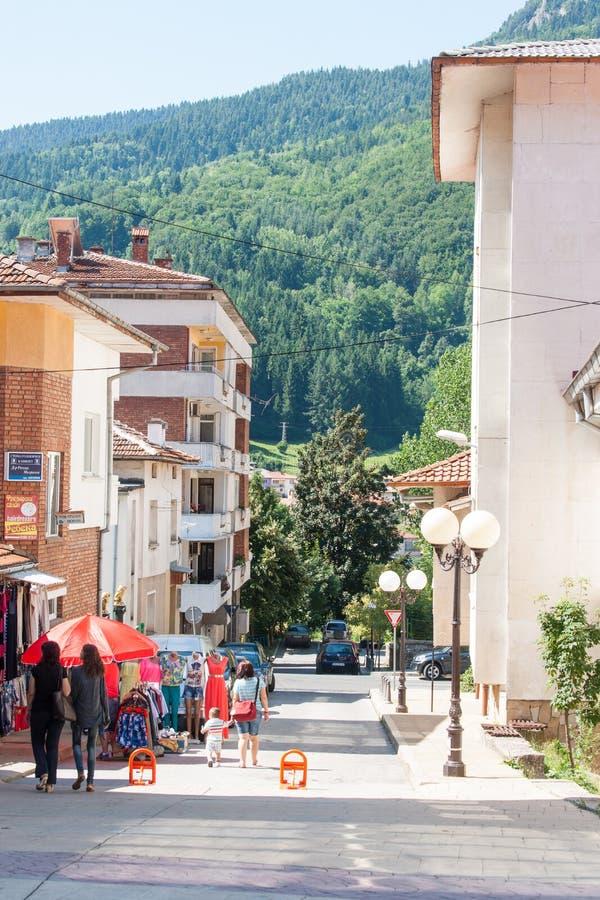 Bulgaria. Smolyan: house and mountains royalty free stock image