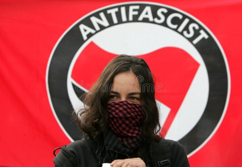 Bulgaria Sofia Anti fascist Portest stock photos