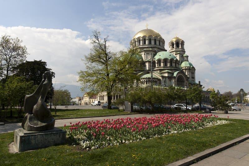 Bulgaria Sofia Cathedral Nevsky fotografía de archivo libre de regalías